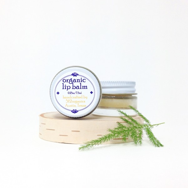 512organics organic lip balm austin texas on laser cut wood with fern
